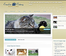 CMS Website Design - Emalini Cattery, Maine Coon Cats