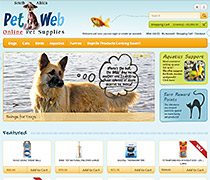 Pet Web Online. E-commerce Pet Supplies Store.